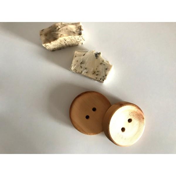 Ahşap Sabunluk - Düğme