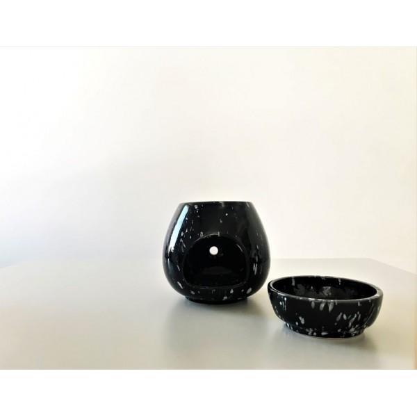 Buhurdanlık - Siyah (Beyaz Benek)